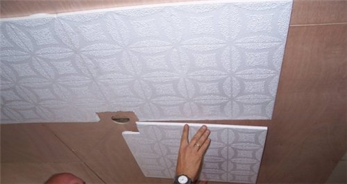 Потолок из пенопласта? Нет, это не фантастика! Продолжение