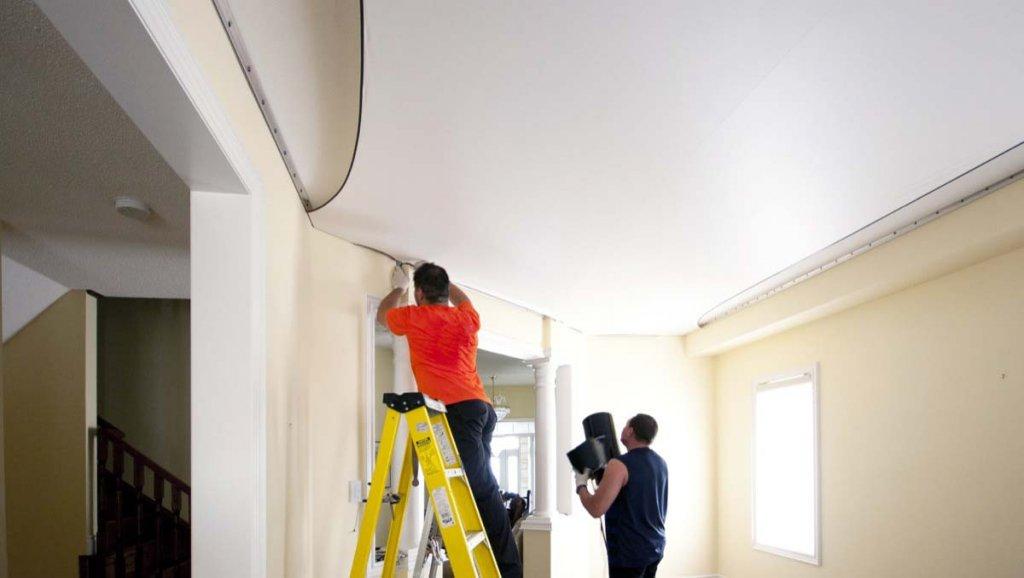 Натяжные потолки: преимущества
